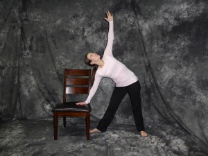 Chair Yoga Triangle